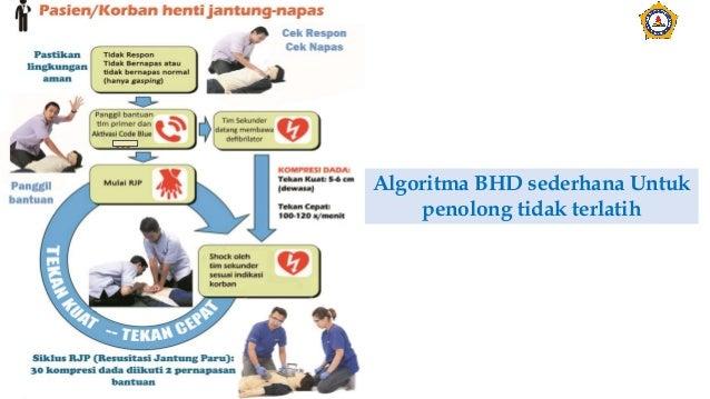 Algoritma BHD sederhana Untuk penolong tidak terlatih