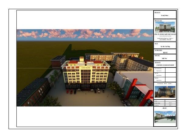 Bản vẽ mẫu Revit nhà cao tầng công trình dân dụng thể hiện bằng phần mềm Revit Slide 2