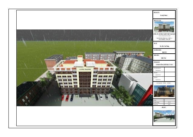 Bản vẽ mẫu Revit nhà cao tầng công trình dân dụng thể hiện bằng phần mềm Revit Slide 3