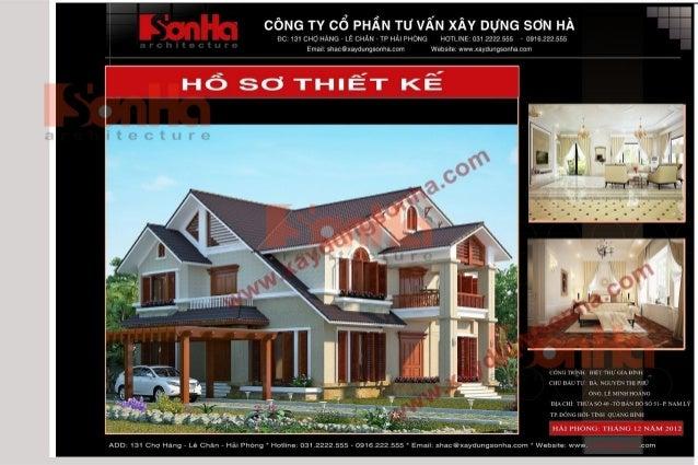 Ban Ve Thiet Ke Nha Biet Thu Dep - Phoi Canh Kien Truc Va Noi That Biet Thu - www.xaydungsonha.com