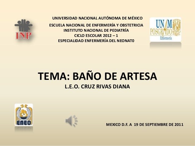 UNIVERSIDAD NACIONAL AUTÓNOMA DE MÉXICO ESCUELA NACIONAL DE ENFERMERÍA Y OBSTETRICIA INSTITUTO NACIONAL DE PEDIATRÍA CICLO...
