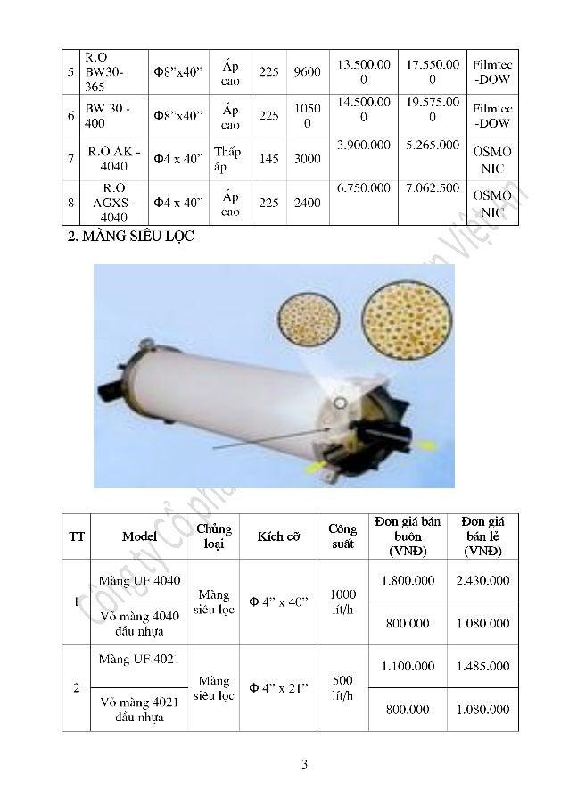 Báo giá linh kiện dây chuyền nước công nghiệp Slide 3