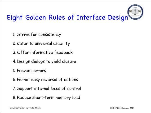 User Interface Design Notes