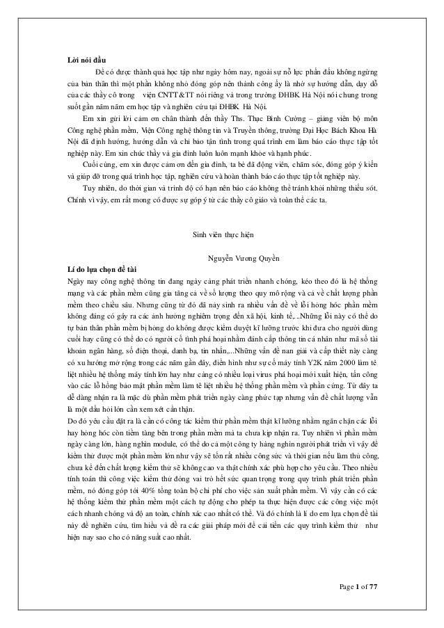 Page 1 of 77 Lời nói đầu Để có được thành quả học tập như ngày hôm nay, ngoài sự nỗ lực phấn đấu không ngừng của bản thân ...