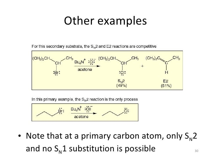 difference between e1 and e2 reactions pdf