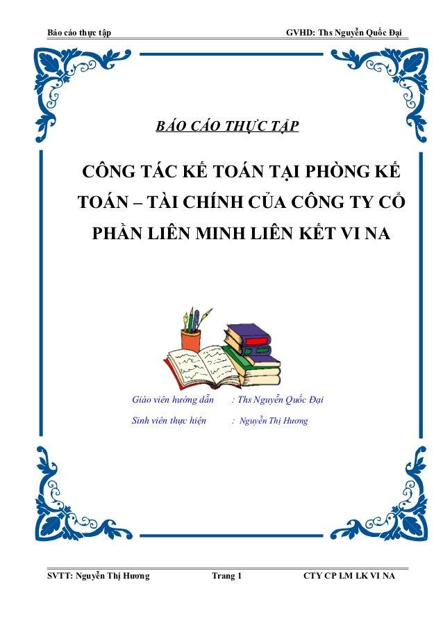 Báo cáo thực tập                                         GVHD: Ths Nguyễn Quốc Đại                         BÁO CÁO THỰC TẬ...