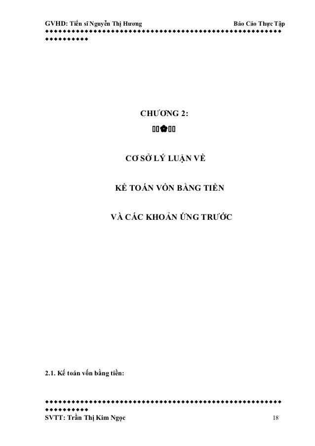GVHD: Tiến sĩ Nguyễn Thị Hương             Báo Cáo Thực Tập...