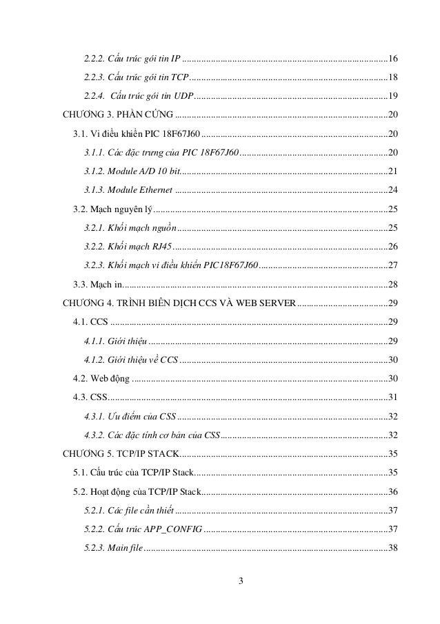 Đề tài: MODULE ETHERNET TRÊN VI ĐIỀU KHIỂN PIC18F67J60 VÀ ỨNG DỤNG TRONG  ĐO LƯỜNG – ĐIỀU KHIỂN Slide 3