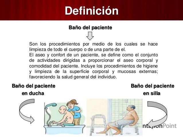 Baño Del Paciente En Ducha Y Silla