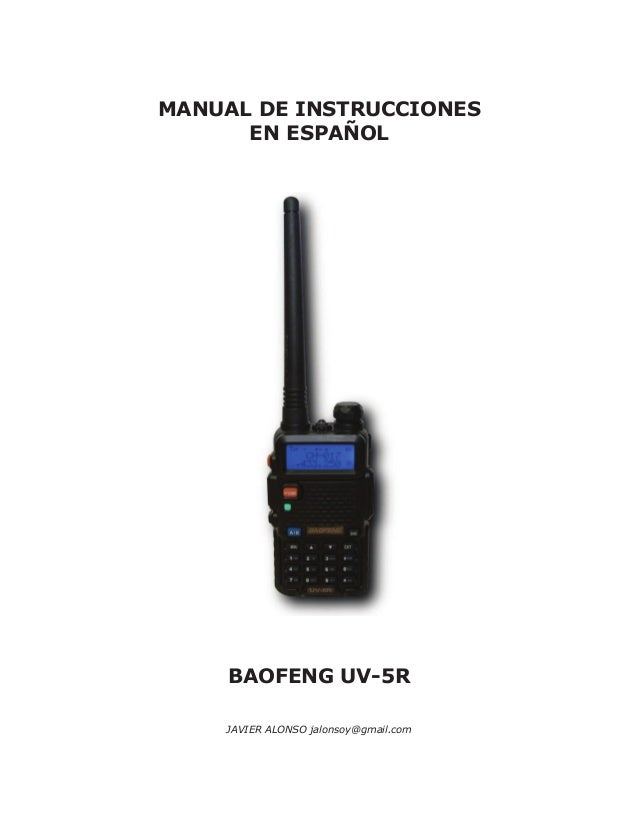 Baofeng uv5r manual