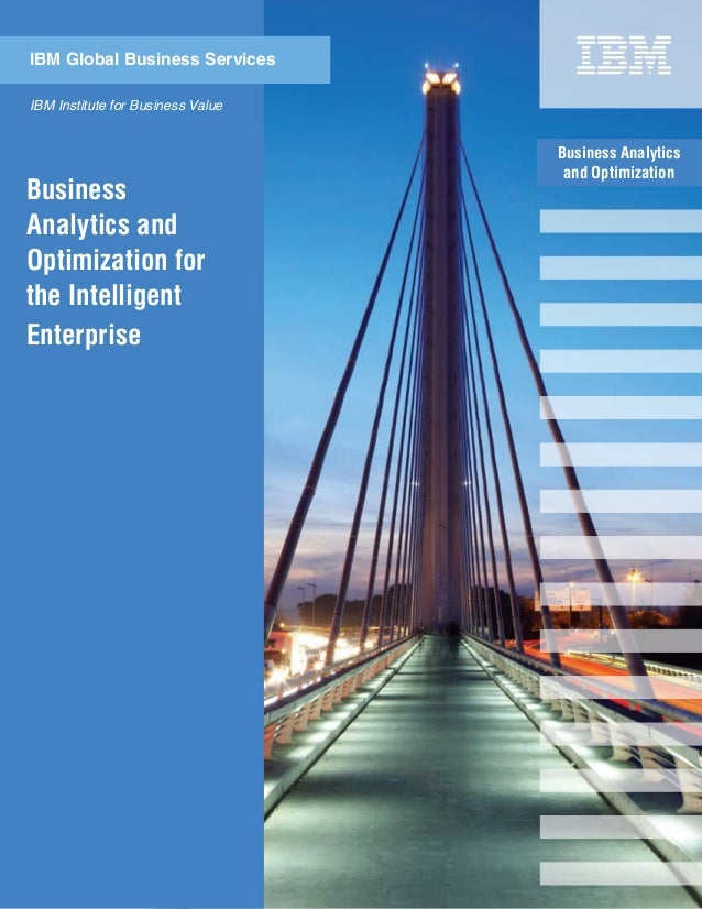 Business Analytics and Optimization IBM Institute for Business Value IBM Global Business Services Business Analytics and O...