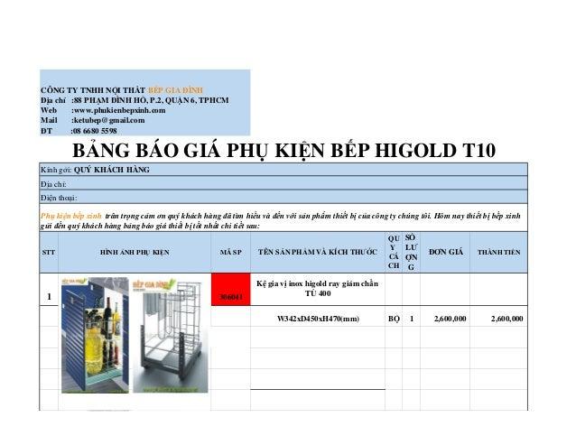 CÔNG TY TNHH NỘI THẤT BẾP GIA ĐÌNH Địa chỉ :88 PHẠM ĐÌNH HỔ, P.2, QUẬN 6, TPHCM Web :www.phukienbepxinh.com Mail :ketubep@...