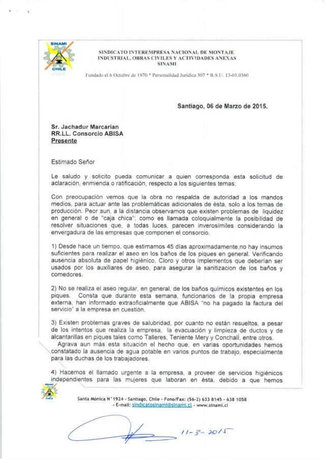 DENUNCIA POR CONDICIONES MINIMAS DE TRABAJO