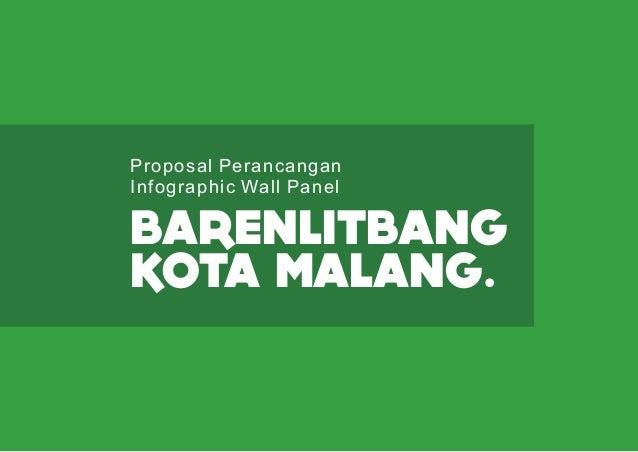 BARENLITBANG KOTA MALANG. Proposal Perancangan Infographic Wall Panel