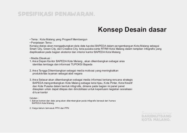 • Tema : Kota Malang yang Progesif Membangun • Penjelasan Tema : Konsep diatas akan menggabungkan data data tupoksi BAPEDA...