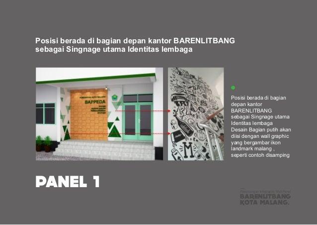 Posisi berada di bagian depan kantor BARENLITBANG sebagai Singnage utama Identitas lembaga BARENLITBANG KOTA MALANG. Peran...
