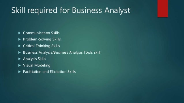 business analysis and business analyst