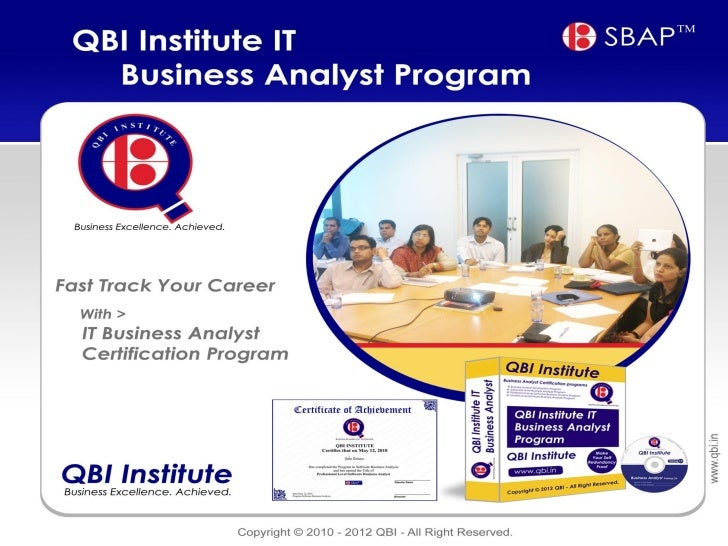 IT Business Analyst Certification Program - Distance Learning