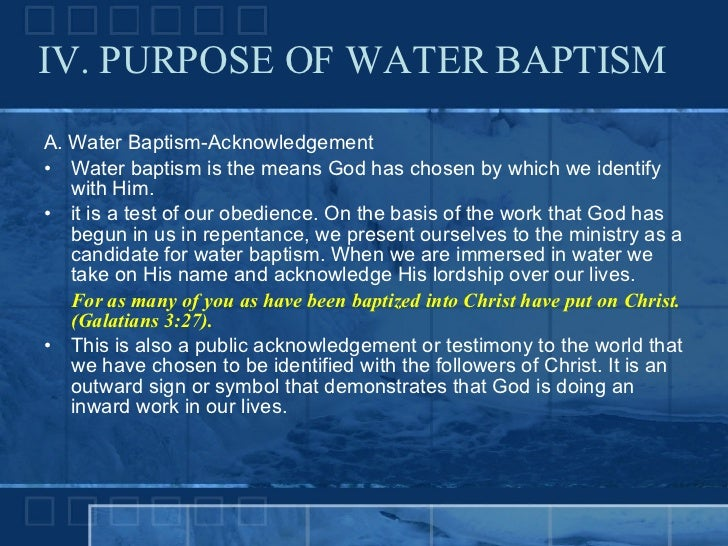 bible verses about water baptism 2018