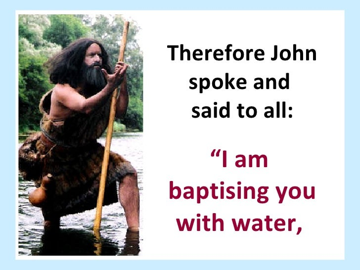 baptism according to luke [3:19-20] luke separates the ministry of john the baptist from that of jesus by reporting the imprisonment of john before the baptism of jesus (lk 3:21-22) luke uses this literary device to serve his understanding of the periods of salvation history.