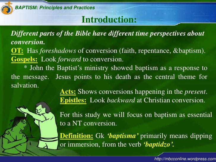 An introduction to the issue of baptism