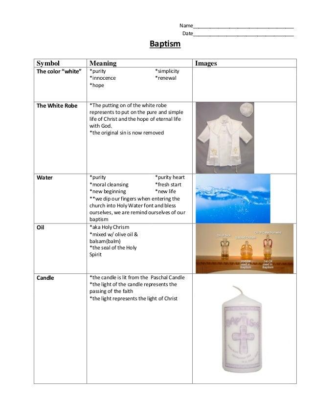 Baptism Worksheet Filled With Details