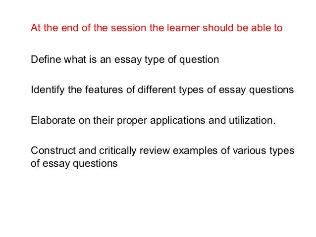 restricted response essay questions