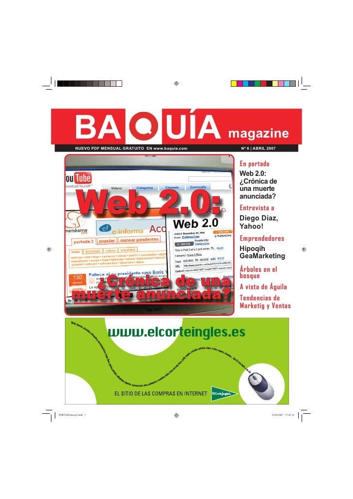 BA                                UÍA magazine NUEVO PDF MENSUAL GRATUITO EN www.baquia.com   Nº 6 | ABRIL 2007           ...