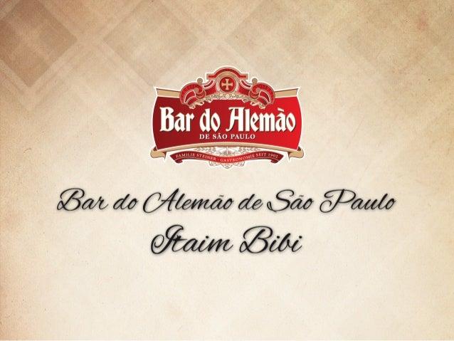 Originário de Itu, o Bar do Alemão de São Paulo inaugurou em maio de 2013 uma unidade no Itaim Bibi e traz consigo a tradi...