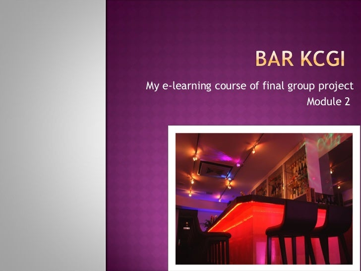 My e-learning course of final group project Module 2