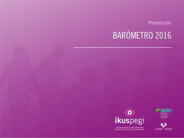 Presentación BARÓMETRO 2016