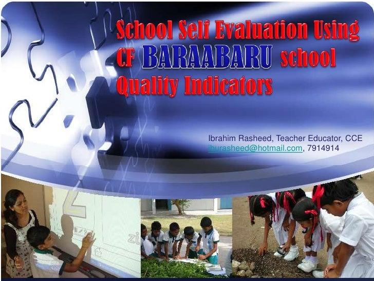 Ibrahim Rasheed, Teacher Educator, CCEiburasheed@hotmail.com, 7914914