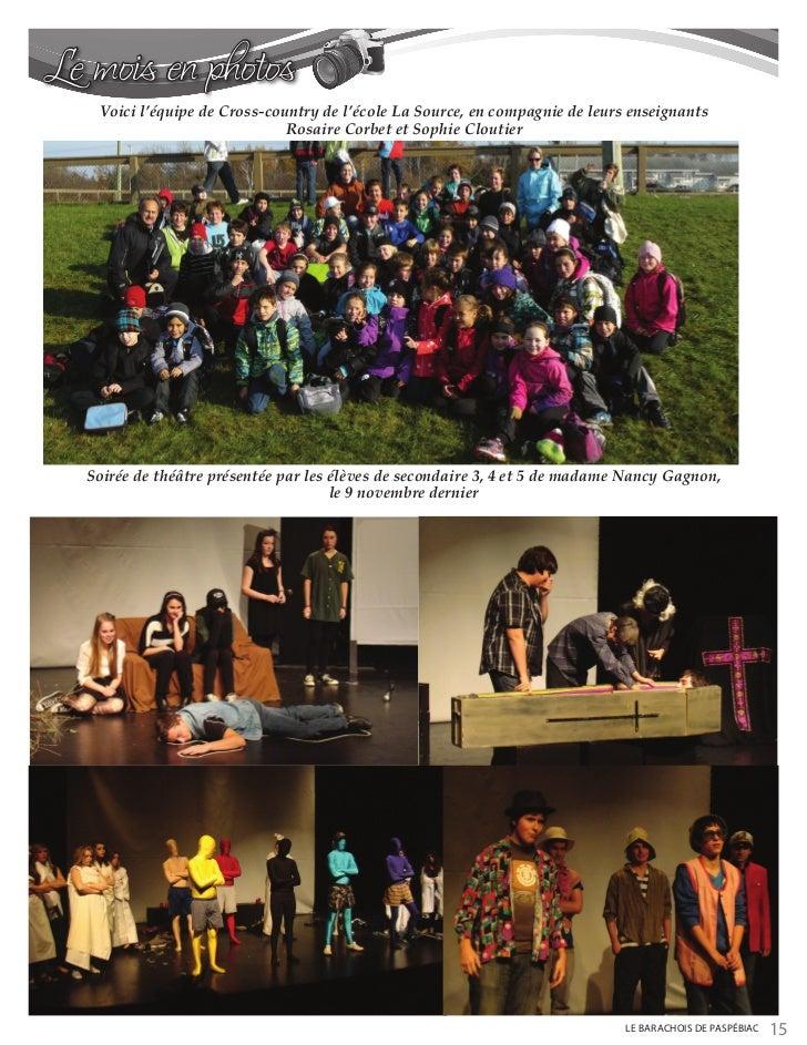 Le mois en photos   Voici l'équipe de Cross-country de l'école La Source, en compagnie de leurs enseignants               ...
