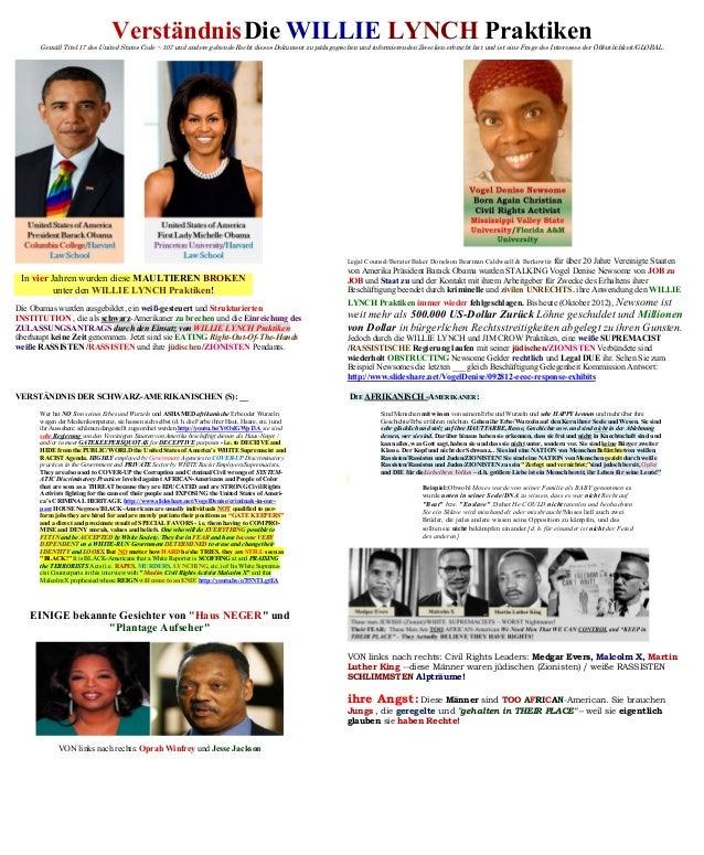 VerständnisDie WILLIE LYNCH PraktikenGemäß Titel 17 des United States Code ~ 107 und andere geltende Recht dieses Dokument...