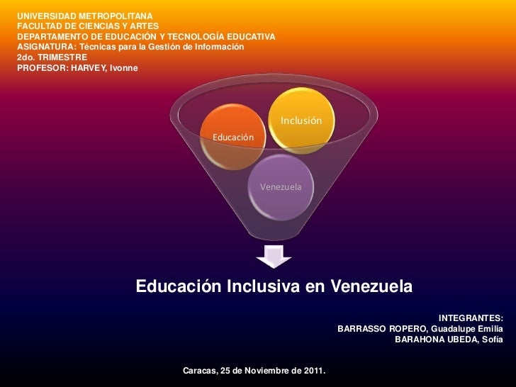 UNIVERSIDAD METROPOLITANAFACULTAD DE CIENCIAS Y ARTESDEPARTAMENTO DE EDUCACIÓN Y TECNOLOGÍA EDUCATIVAASIGNATURA: Técnicas ...