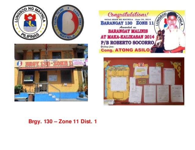 Brgy. 130 – Zone 11 Dist. 1