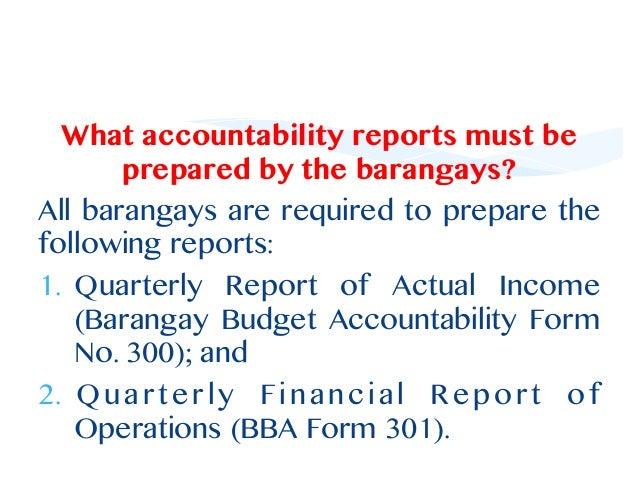 Barangay Budgeting Essay Sample