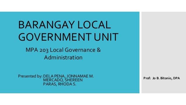 Barangay Local Government Unit