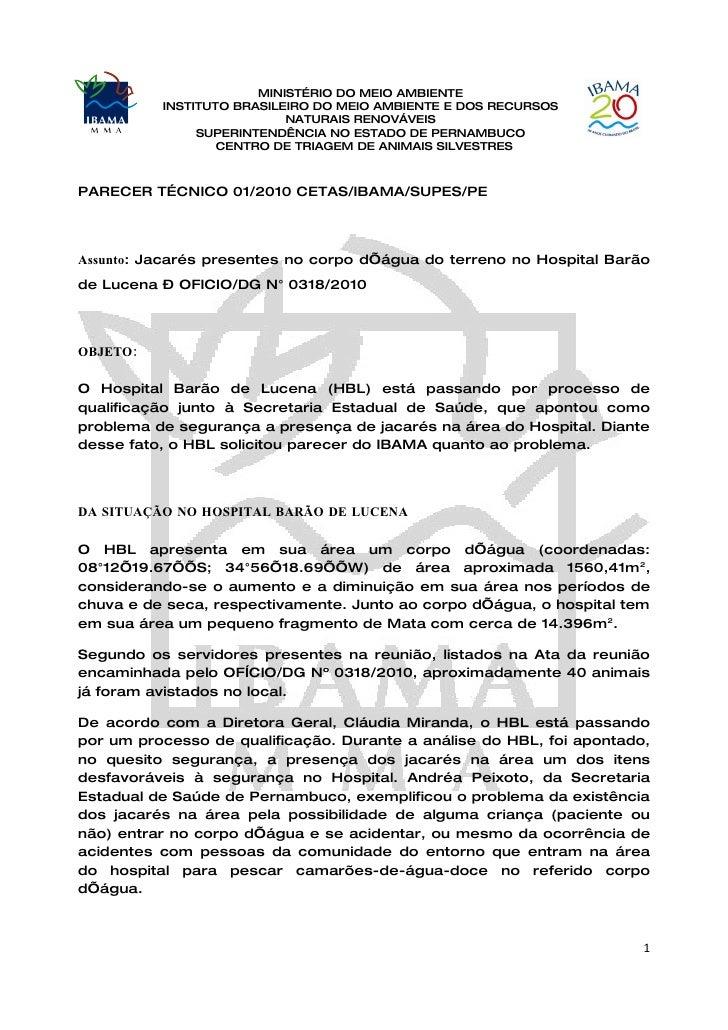 MINISTÉRIO DO MEIO AMBIENTE           INSTITUTO BRASILEIRO DO MEIO AMBIENTE E DOS RECURSOS                            NATU...