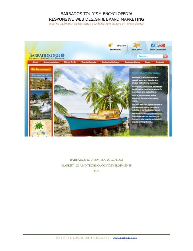 BARBADOS TOURISM ENCYCLOPEDIARESPONSIVE WEB DESIGN & BRAND MARKETINGmaking information instantly available everywhere on e...