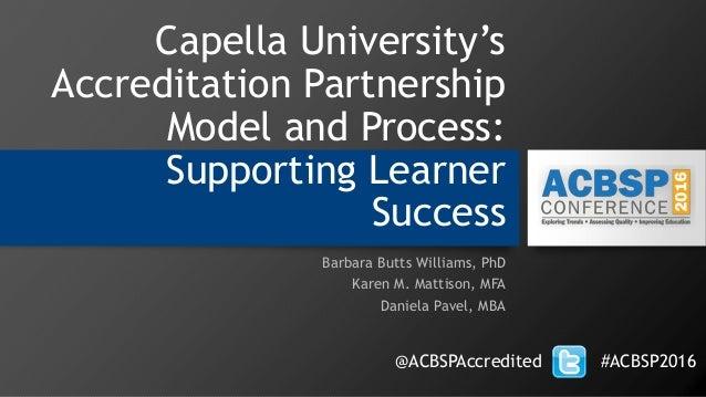Capella's Accreditation Partnership