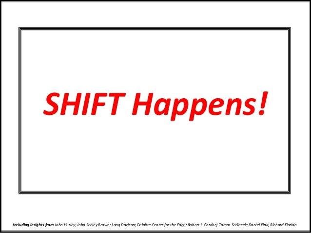 SHIFT Happens! Including insights from John Hurley; John Seeley Brown; Lang Davison; Deloitte Center for the Edge; Robert ...