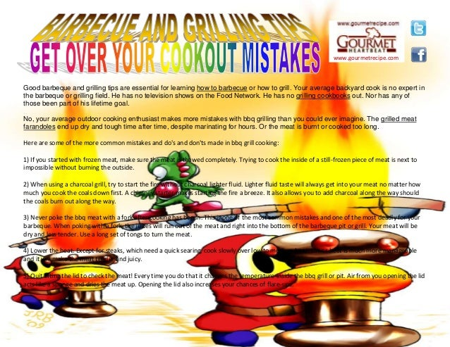 www.gourmetrecipe.com Good barbeque and grilling tips are essential for learning how to barbecue or how to grill. Your ave...