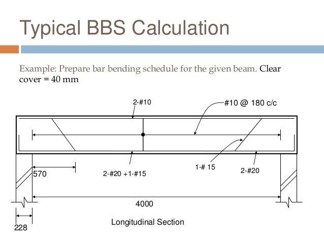 Bar bending schedule calculation pdf