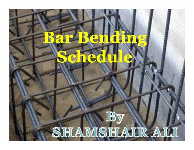Bar BendingBar Bending ScheduleSchedule