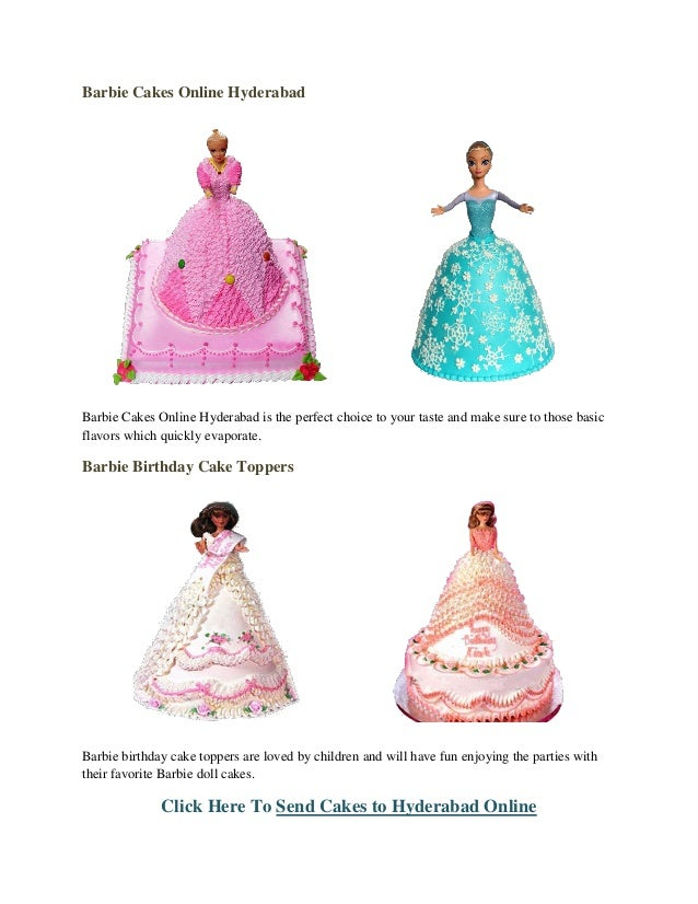 Barbie Birthday Cake Order Online