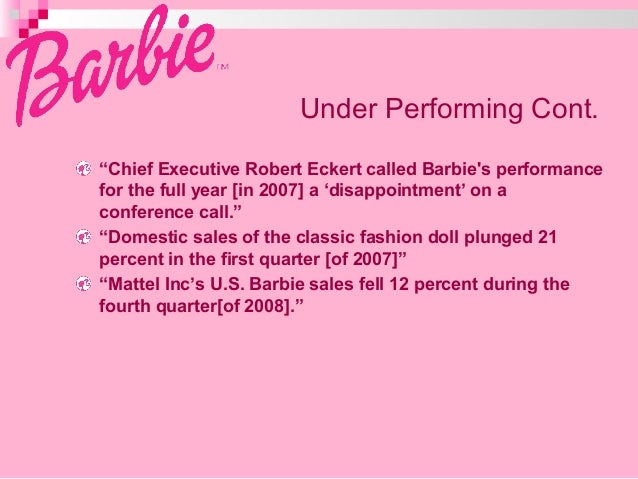 DOES MATTEL'S ICONIC BARBIE DOLL NEED A MAKEOVER? Case ...