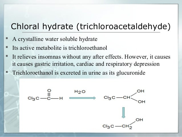 Design of a Br  nsted acid with two different acidic sites     Chloral hydrate