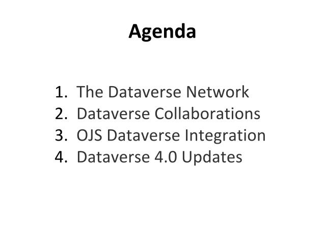 APLIC 2014 - Dataverse Project Slide 2