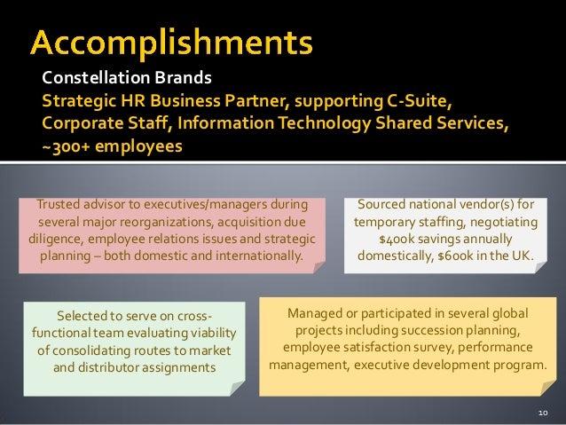 constellation brands strategic hr business